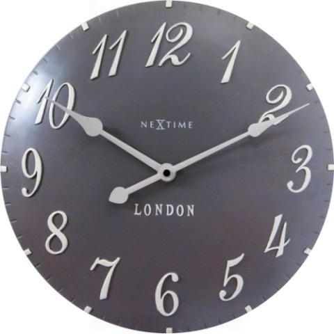 NeXtime Designové nástěnné hodiny 3084gs Nextime v aglickém retro stylu 35cm 163559
