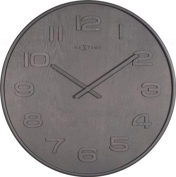 NeXtime Designové nástěnné hodiny 3095gs Nextime Wood Wood Big 53cm 163657