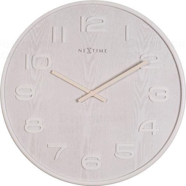 NeXtime Designové nástěnné hodiny 3095wi Nextime Wood Wood Big 53cm 163658