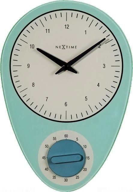 NeXtime Designové nástěnné hodiny 3097bl Nextime Hans 28cm 163659