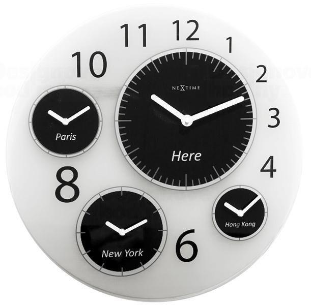NeXtime Designové nástěnné hodiny 3101 Nextime Big World 52cm 163661