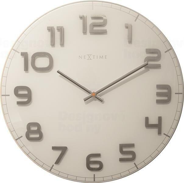 NeXtime Designové nástěnné hodiny 3105wi Nextime Classy Large 50cm 163665