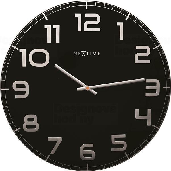 NeXtime Designové nástěnné hodiny 3105zw Nextime Classy Large 50cm 163666