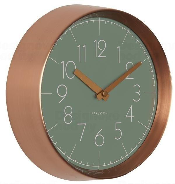 Designové nástěnné hodiny KA5580GR Karlsson 22cm 163732