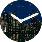 Designové nástěnné luminescenční hodiny 8819 Nextime New York 30cm 163685