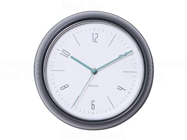 Designové nástěnné retro hodiny 5525GY Karlsson 25cm 163541