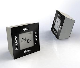NeXtime Designové stolní digitální hodiny 5190zw Nextime Turn4Time 8cm 163671