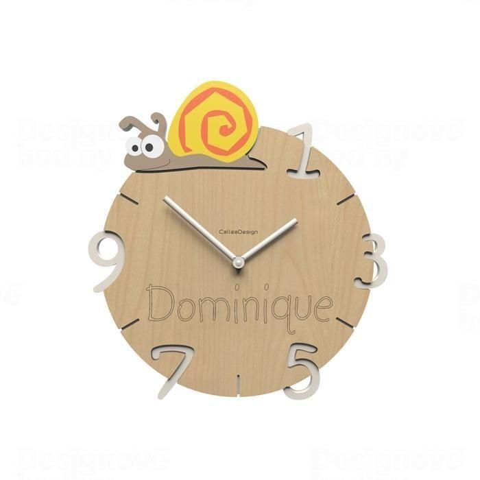Dětské nástěnné hodiny s vlastním jménem CalleaDesign šnek 36cm 163520