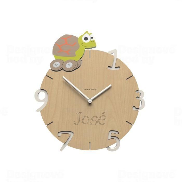 Dětské nástěnné hodiny s vlastním jménem CalleaDesign želva 36cm 163521