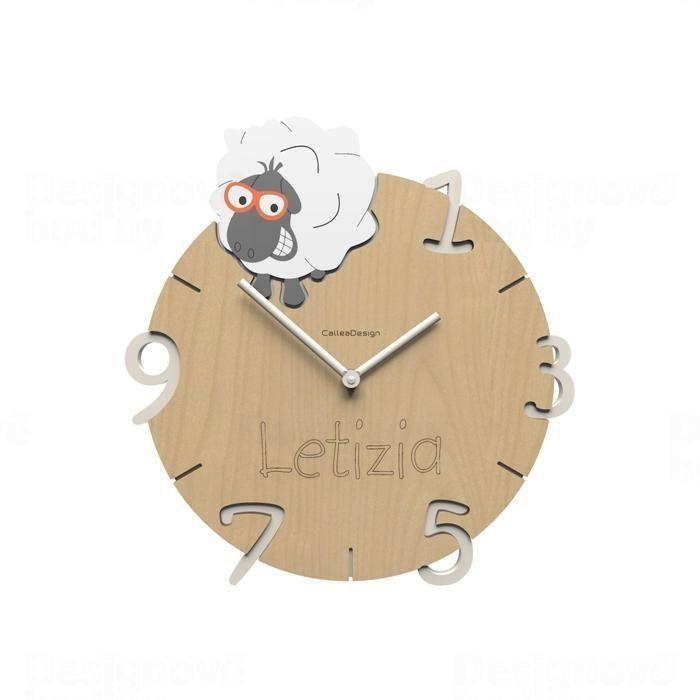 Dětské nástěnné hodiny s vlastním jménem CalleaDesign ovečka 36cm 163514