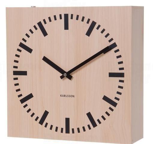 Karlsson Oboustranné nástěnné hodiny 5528 natur 30cm 163510