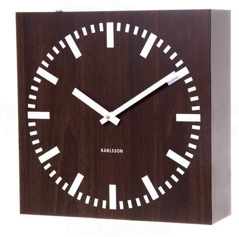 Karlsson Oboustranné nástěnné hodiny 5529 wenge 30cm 163509