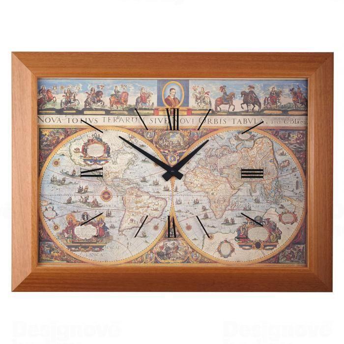 Lowell Italy Originální nástěnné hodiny 11701 Lowell Prestige 80cm 163453