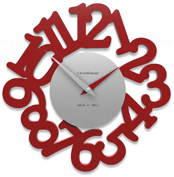Designové hodiny 10-009 CalleaDesign Mat 33cm (více barevných verzí) Barva tmavě zelená klasik - 77 163873