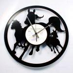 Designové nástěnné hodiny Discoclock 074 Divocí koně 30cm 163787