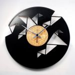 Designové nástěnné hodiny Discoclock 077 Origami 30cm 163790
