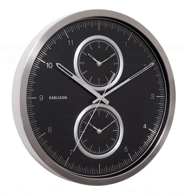 Karlsson Designové nástěnné hodiny KA5508BK Karlssson 50cm 163747