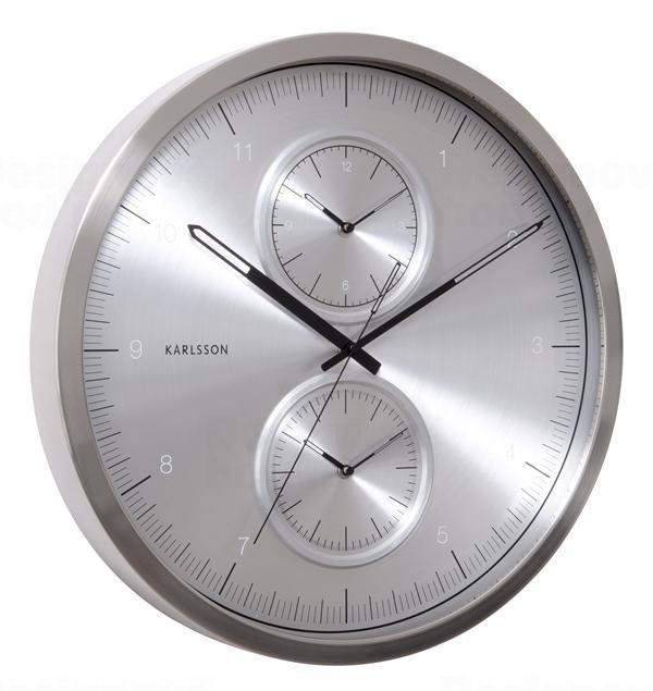 Karlsson Designové nástěnné hodiny KA5508SI Karlssson 50cm 163746