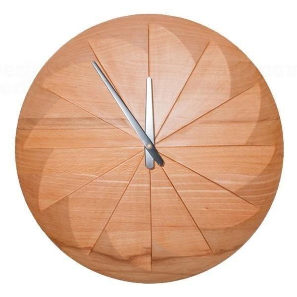 Dřevěné nástěnné hodiny A-0010 IdealWood 40cm 163777