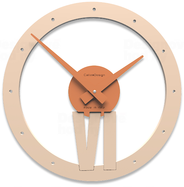 Designové hodiny 10-015 CalleaDesign Xavier 35cm (více barevných verzí) Barva tmavě zelená klasik - 77 164000