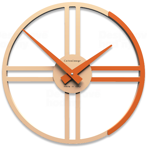 Designové hodiny 10-016 CalleaDesign Gaston 35cm (více barevných verzí) Barva růžová klasik - 71 164039