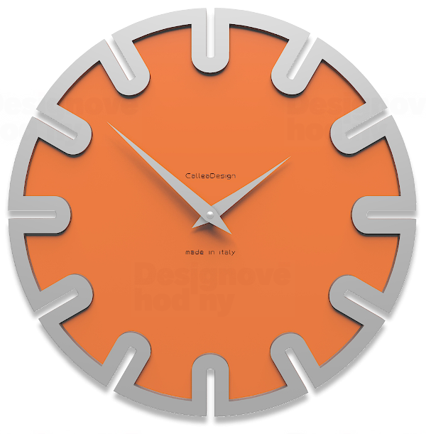 Designové hodiny 10-017 CalleaDesign Roland 35cm (více barevných verzí) Barva žlutý meloun - 62 164077 Hodiny