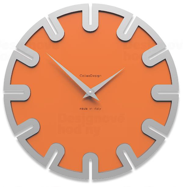 Designové hodiny 10-017 CalleaDesign Roland 35cm (více barevných verzí) Barva černá klasik - 5 164052