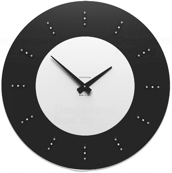 Designové hodiny 10-210 CalleaDesign Vivyan Swarovski 60cm (více barevných verzí) Barva černá klasik - 5 164086