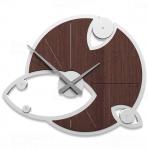 Designové hodiny 10-128 CalleaDesign Andromeda 54 x 45cm (více barevných verzí) Barva čokoládová - 69 Design zebrano - 87 164230