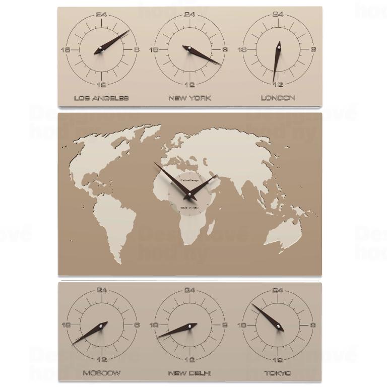 Designové hodiny 12-008 CalleaDesign V-Cosmo 85cm (více barevných verzí) Barva caffelatte - 14 164235