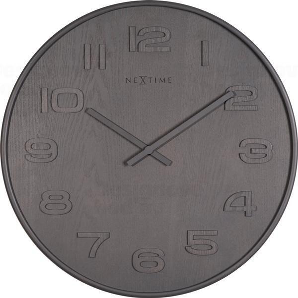 NeXtime Designové nástěnné hodiny 3096gs Nextime Wood Wood Medium 35cm 164286