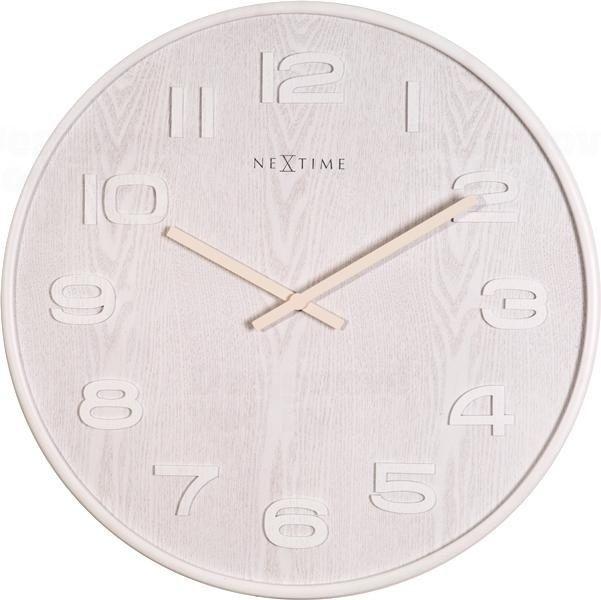 NeXtime Designové nástěnné hodiny 3096wi Nextime Wood Wood Medium 35cm 164287