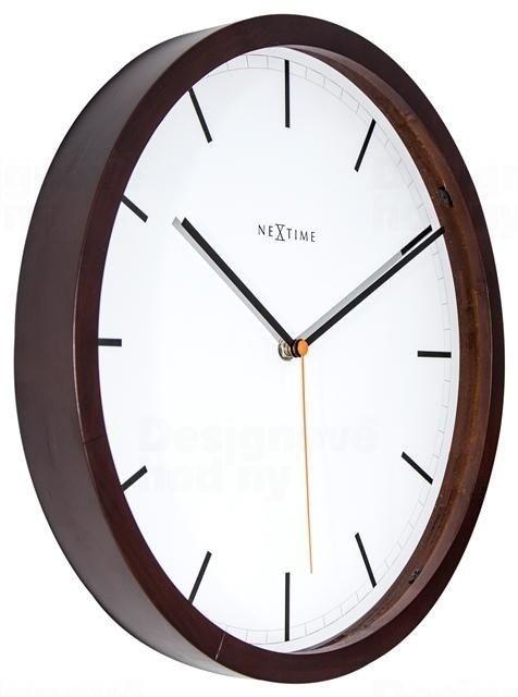 NeXtime Designové nástěnné hodiny 3156br Nextime Company Wood 35cm 164324
