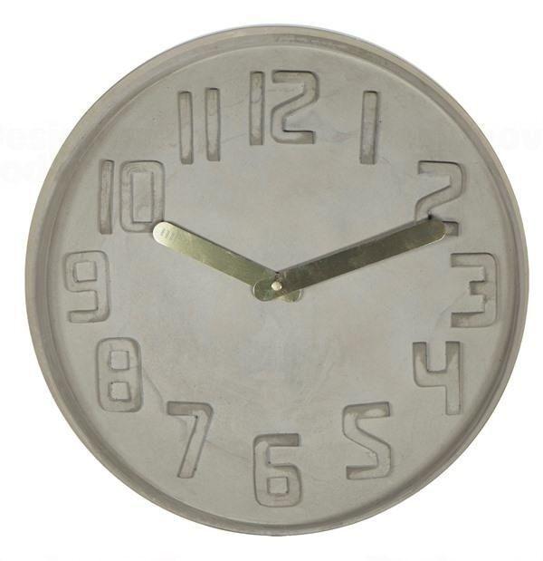 Designové nástěnné kameninové hodiny CL0128 Fisura 35cm 164364