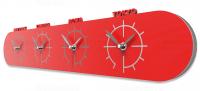 Designové hodiny 12-007 CalleaDesign Singapore 57cm (více barevných verzí) Barva čokoládová - 69 164570 Hodiny