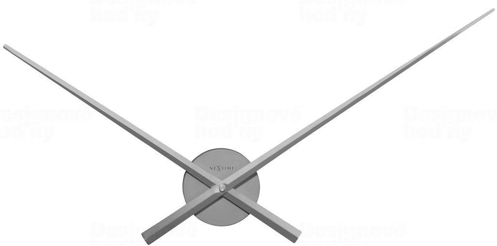 NeXtime Designové nástěnné hodiny 3118zi Nextime Hands stříbrné 70cm 164577