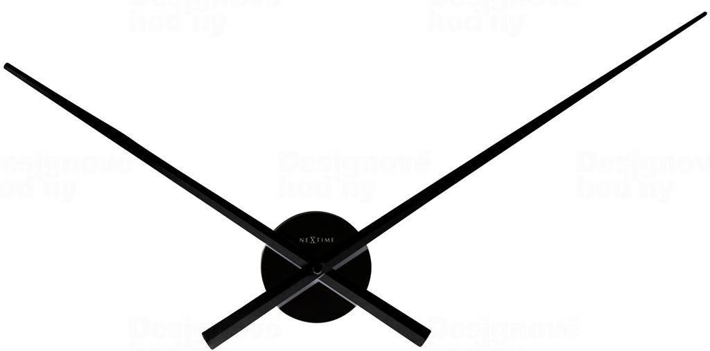 NeXtime Designové nástěnné hodiny 3118zw Nextime Hands černé 70cm 164578