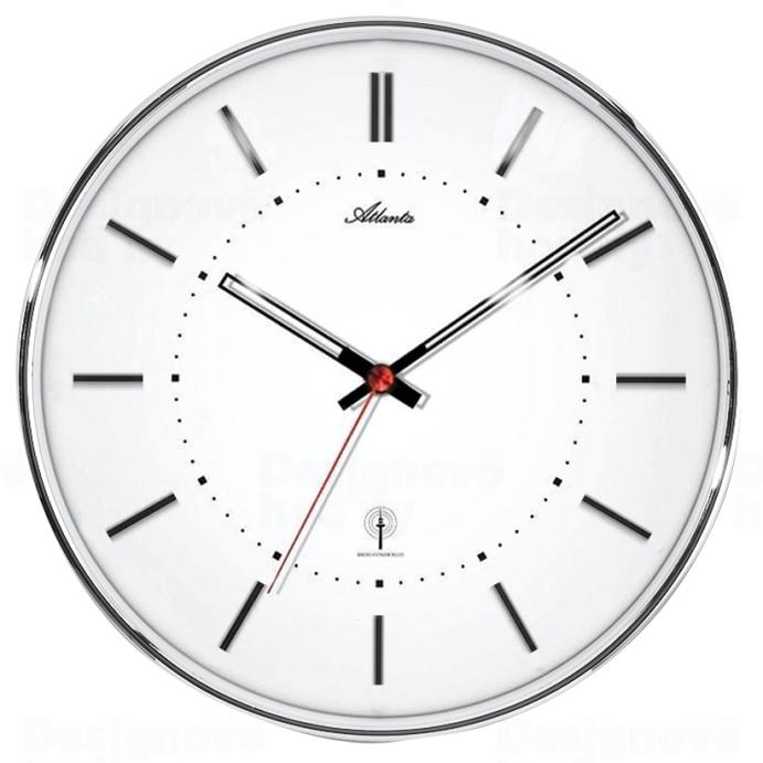 Atlanta Designové nástěnné hodiny AT4296-19 řízené signálem DCF 164609