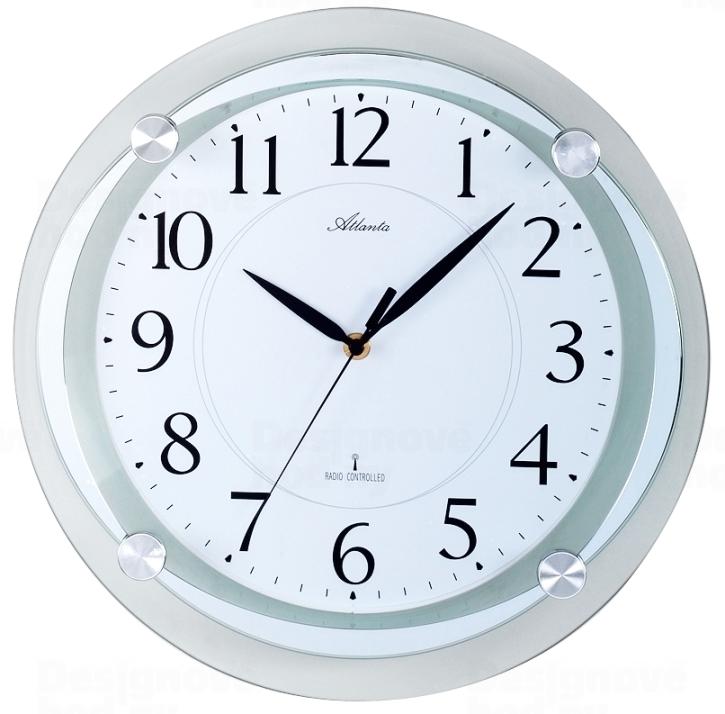 Atlanta Designové nástěnné hodiny AT4297-19 řízené signálem DCF 164611