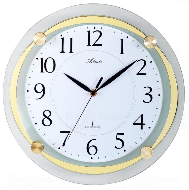 Atlanta Designové nástěnné hodiny AT4297-9 řízené signálem DCF 164610