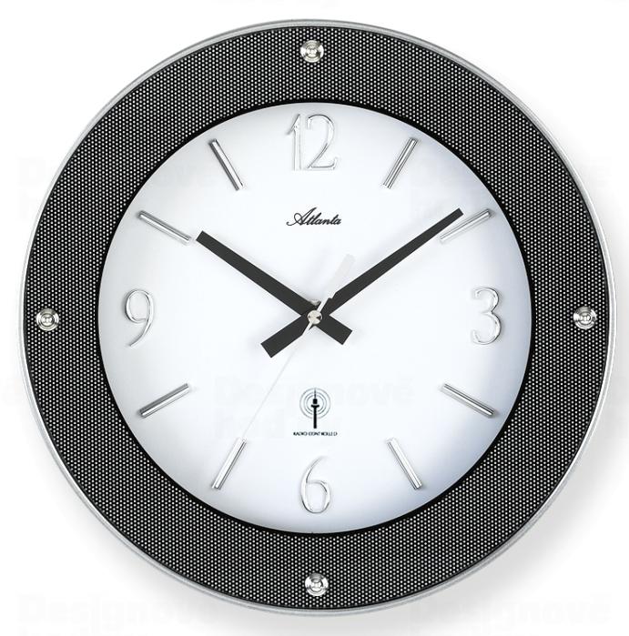 Atlanta Designové nástěnné hodiny AT4390 řízené signálem DCF 164619