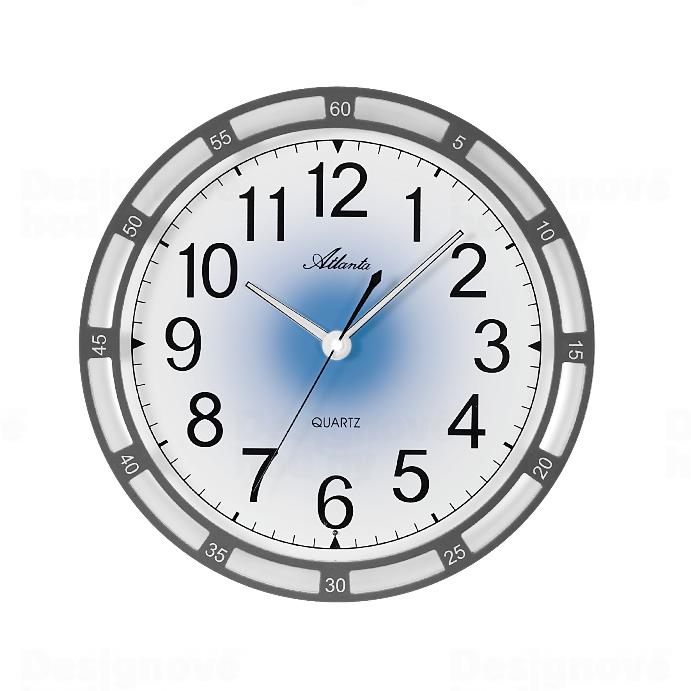 Atlanta Nástěnné hodiny AT4458-4 s automatickým nočním LED podsvětlením 164626