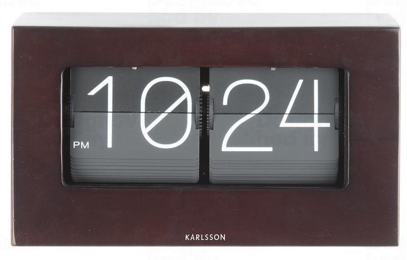 Designové stolní překlápěcí hodiny 5620DW Karlsson 21cm 164717