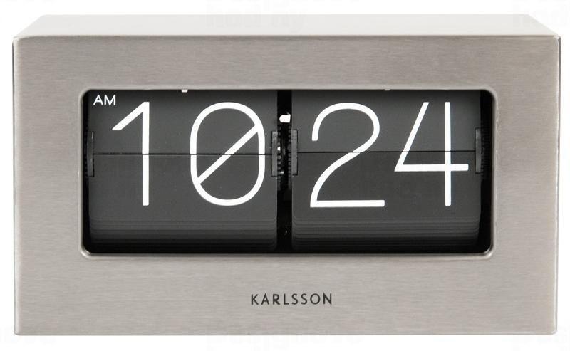 Designové stolní překlápěcí hodiny 5620ST Karlsson 21cm 164718