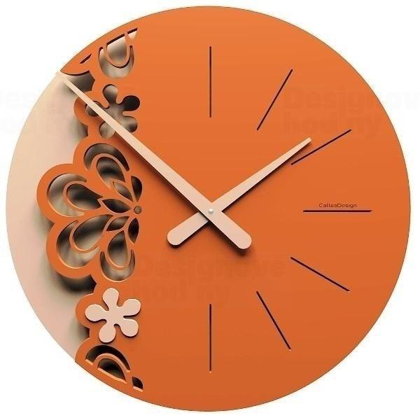 Designové hodiny 56-10-2 CalleaDesign Merletto Big 45cm (více barevných verzí) Barva oranžová - 63 164855