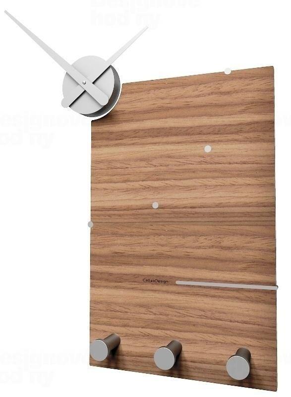 Designové hodiny 10-130n natur CalleaDesign Oscar 66cm (více dekorů dýhy) Design tmavý dub - 83 164894