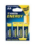 Alkalické tužkové baterie VARTA Energy AA (4ks - blistr) 164985