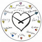 Designové nástěnné hodiny 3160 Nextime Loving You Dome 35cm 165333