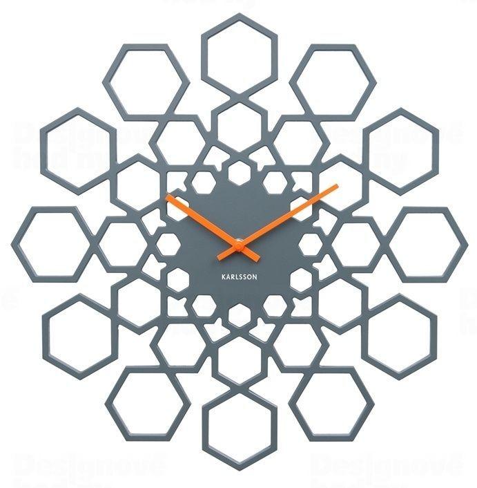 Designové nástěnné hodiny 5639GY Karlsson 48cm 165350