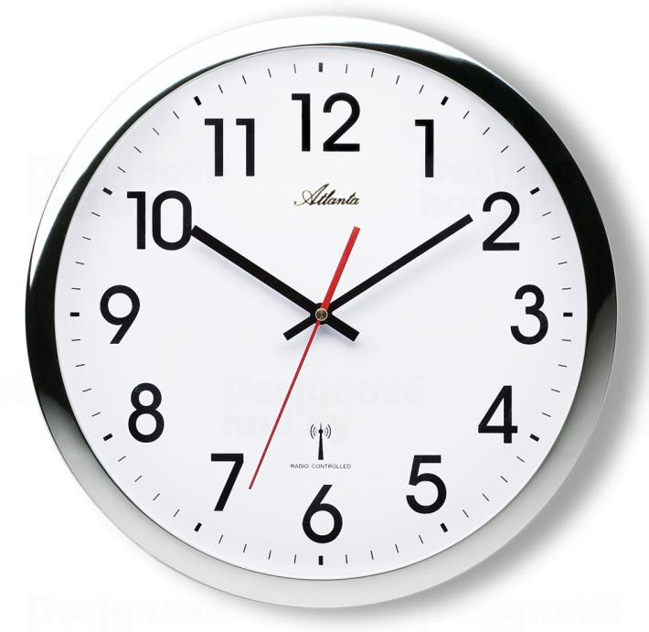 Atlanta Designové nástěnné hodiny AT4219-19 řízené signálem DCF 164954
